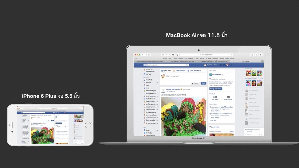 iPhone 6 Plus vs MacBook Air 11 inches