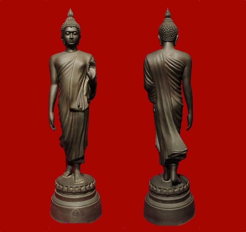 พระบูชา 25 พุทธศตวรรษ ปี 2527 สูง 18 นิ้ว สีรมมันปู